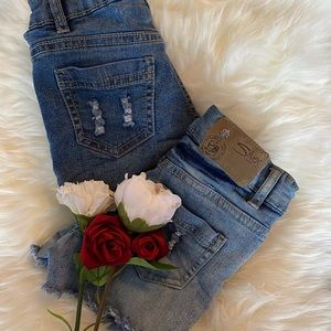 Silver Jeans Lacey Denim Shorts Girls 6X